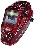 Mauk Automatik 1767 Premium - Casco de soldadura, color rojo y plateado
