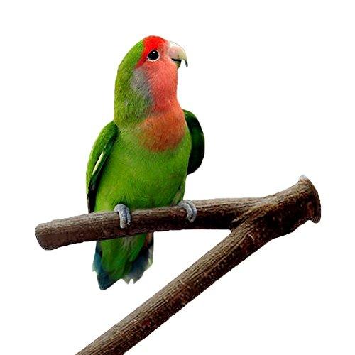 Soporte de madera para jaula de pájaros