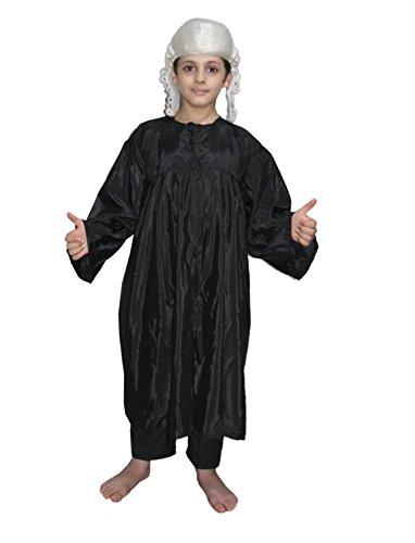 Kaku Fancy Dresses Our Community Helper Judge Costume -Black, 14-18 Years, for Boys & Girls