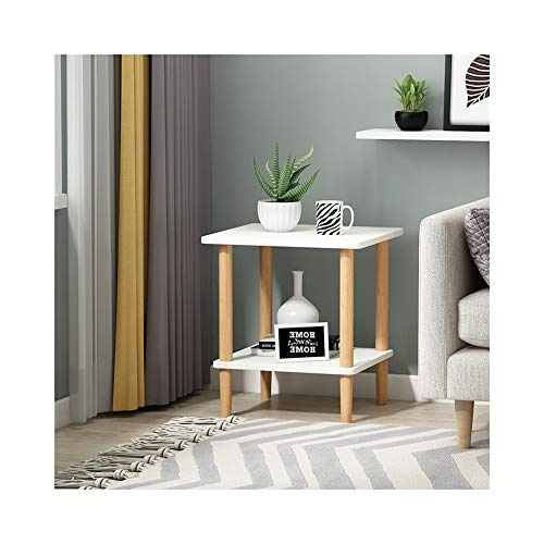 AJZXHE Table d'appoint table de loisirs table Bureau simple (Couleur : Blanc, taille : 48 * 45 * 53cm.)