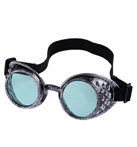 Malloom® Vintage Style Steampunk Goggles Welding Punk Glasses Cosplay (Green) steampunk buy now online