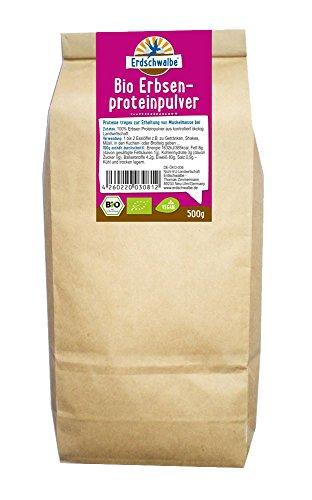 Erdschwalbe Bio Erbsen Proteinpulver, 1er Pack (1 x 500 g)