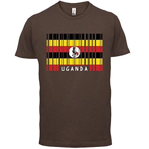 Uganda / Republik Uganda Barcode Flagge - Herren T-Shirt - 13 Farben  Schokobraun