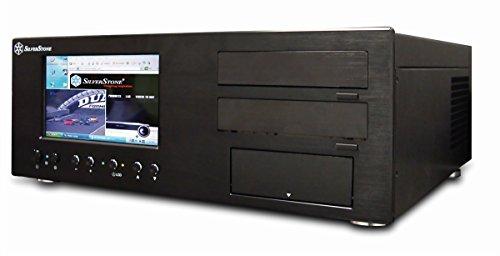 """SilverStone SST-LC18B-V64 Lascala HTPC ATX Voll-Aluminium-Computer-Gehäuse mit herausragender Kühlleistung, einem HDTV-ähnlichen 7"""" Touchscreen-Monitor sowie viel Raum zur Installation von Festplatten und Laufwerken, rackmount-fähig, schwarz"""