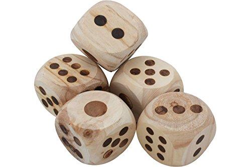 Preisvergleich Produktbild Gartenspiel Würfelspiel Yatzy Kniffel mit Block Holzwürfel Spiel Outdoorspiel