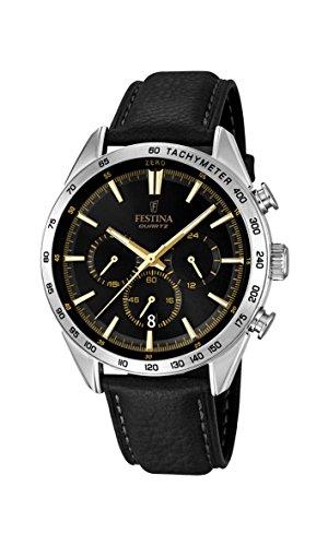 Festina Herren-Armbanduhr Chronograph Quarz Leder F16844/3