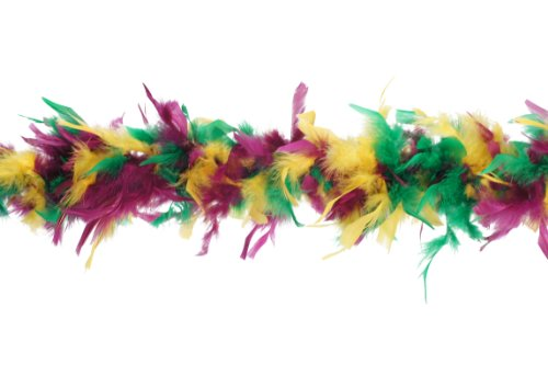 Zucker Feather Products Gewicht Medium Dekorative Chandelle Boa, Mardi Gras Mix