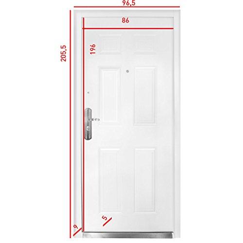 Sicherheitstür HAUSTÜR Wohnungstür Stahltür Wohnungstür linker Anschlag NEU Livingood - Modell 2017, Kellertür, Sicherheit, gibt Einbrechern keine Chance