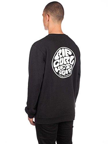 Rip Curl Wettie Crew Herren,Sweater,Pullover,Pulli,Rundausschnitt,Black,XL -