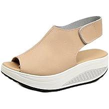 Zapatos de mujer Shake Sandalias de verano de moda Zapatos de tacón bajo grueso Sandalias casuales Sandalias de tacón bajo Zapatillas de plataforma de tobillo LMMVP