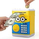 Yacool Elektronische Automatische Spardosen Sparschwein Sparbüchse Mini ATM Münze Sparen Banken Gelddose Spielzeug Geschenk für Kinder