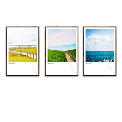 Cxmm Fotorahmen, Bilderrahmen Set 3 Panel Wandkunst Bilder, hängen Dekorative Kunst Für Wohnzimmer Schlafzimmer Schönes Geburtstagsgeschenk/Geschenk, Ausgezeichnete Wandfüller, 6 Stil (Farbe: E -