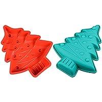 Premium Antiadherente Moldes para tartas (Set de 2), FantasyDay Moldes de Silicona para
