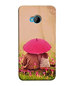 PrintVisa Designer Back Case Cover for HTC M7 :: HTC One M7 (Lifestlye Meadow Young Beauty Green Pink Floral)