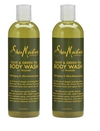 Preisvergleich Produktbild (2 Pack) Olive & Green Tea Body Wash w / Avocado Shea Moisture 13 Oz. by Shea Moisture