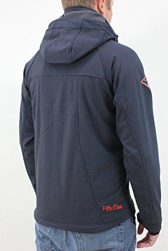 Fifty Five Herren Jacke Softshelljacke Alert mit Five-Tex Membrane Blau (Navy/Orange 002)