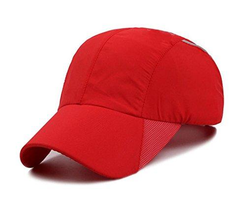 Mme Casquette De Baseball Chapeau été Mâle Casquette De Pare-soleil Extérieur Imperméable Respirant à Séchage Rapide red