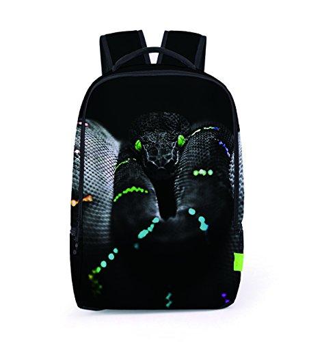 Zhangor borsa stampa 3d dinosauro scimmia serpente zaino studente laptop poliestere ragazzi e ragazze viaggio all'aperto tote