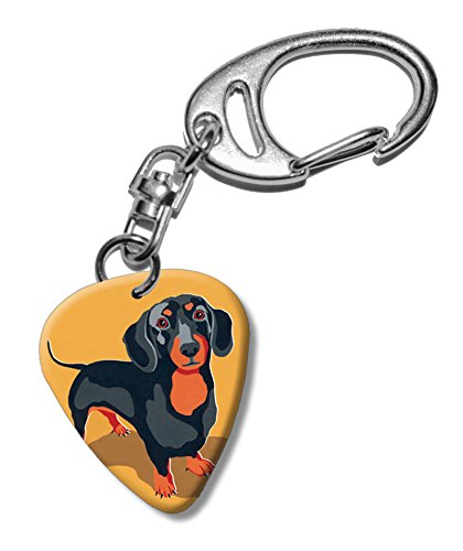 dachshund-dog-martin-wiscombe-guitar-pick-portachiavi-keyring-vintage-retro