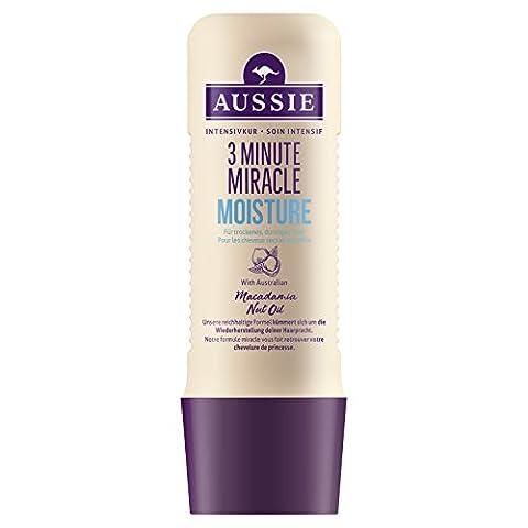 Aussie Soin intensif 3 Minutes Miracle Moisture pour cheveux secs et assoiffés 250 ml