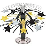 cootillon - Silvester Tisch-Dekoration Sterne , Silber Gold Schwarz