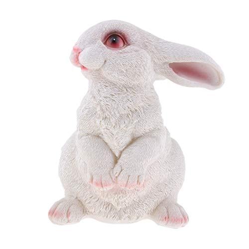 B Blesiya Realisierte Hase Mutter und Kaninchen Kind Wildhase Gartenfigur Deko