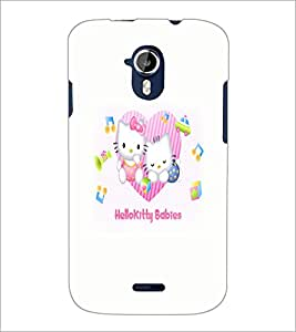 PrintDhaba Kitty babies D-5521 Back Case Cover for MICROMAX A116 CANVAS HD (Multi-Coloured)