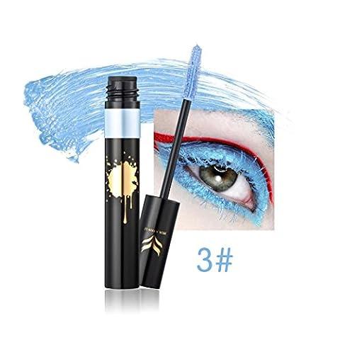 Yogogo 2017 Mascara Volume Waterproof Longue Durée Maquillage Produit de Beauté Bleu Ciel