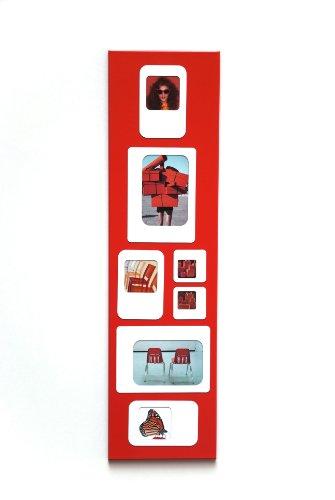 Presse Citron - Cadre photos pêle mêle magnétique - M7 rouge et blanc