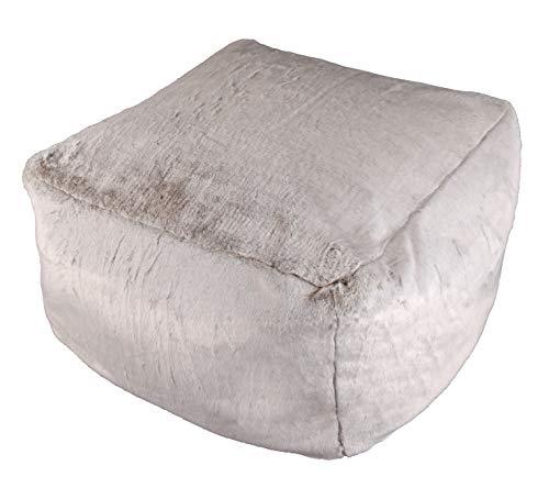 Quantum Interior Loungehocker, Sitzsack, Sofahocker, Maße: ca.75x75x45cm Fellimitat- kein Echtfell
