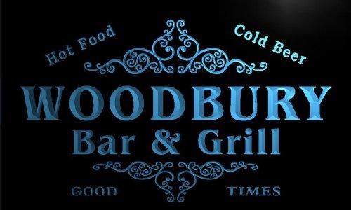 u48963-b WOODBURY Family Name Bar & Grill Home Decor Neon Light Sign Barlicht Neonlicht Lichtwerbung