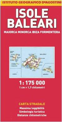 Isole Baleari. Maiorca, Minorca, Ibiza, Formentera 1:175.000 (Carte stradali estero)