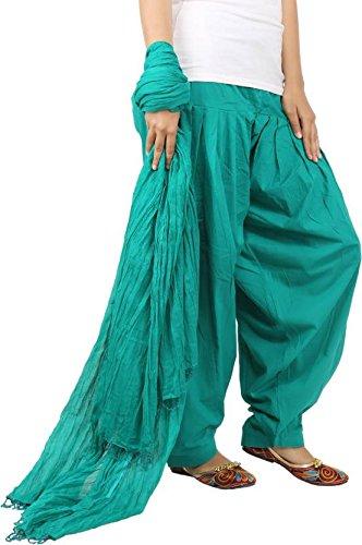 Jaipur Fashion Hub Women's Super quality 100% Pure Cotton Solid Full Patiala...