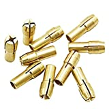 #4: SHAFIRE 4.8mm Shank 0.5-3.2mm Brass Drill Chuck Collet Bit Gold (Set of 10)