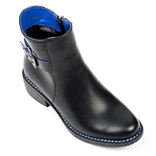 Ideal Shoes, Damen Stiefel & Stiefeletten Blau