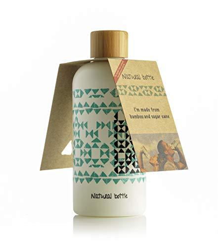 LS-LebenStil Natural Bottle - Bio Trinkflasche Wasserflasche 97{64ededb62d359fddcd3b0ec60eac8786474a77eb4ec3a667405b49071d3e0010} Zuckerrohr Bambus