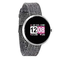 X-WATCH 54048 SIONA COLOR FIT Farb-TFT Damen Smartwatch, Activity Tracker für Android und Apple iOS BRIGHT SILVER
