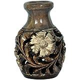 Craft Trade Dark Brown Wooden Jali Toothpick Holder