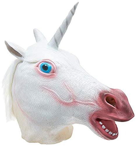 TK Gruppe Timo Klingler Einhorn Maske aus Latex, Unisex für Kinder und Erwachsene Herren & Damen für Halloween und - Lustige Gruppe Kostüm Für Jungs