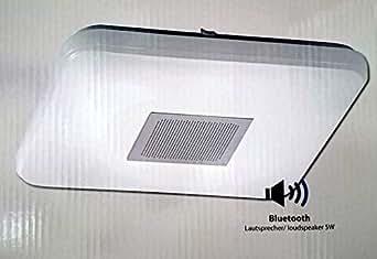 Plafonnier LED Ru00e9glable Avec Haut-parleur Bluetooth 22 Watts 2 700-5 000 Kelvin 330 X 330 Mm ...