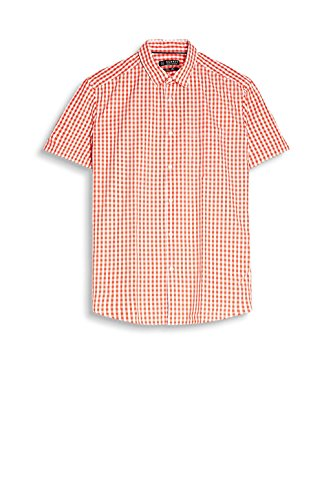 Esprit 057ee2f035, Chemise Casual Homme Rouge (Coral Red)
