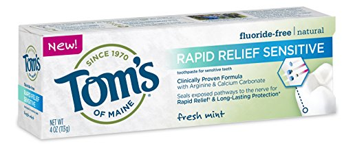 Tom's of Maine - Natürliche Zahnpasta-schnelle Entlastung empfindliche Fluorid-Freie frische Minze - 4 Unze.