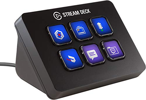 Corsair Elgato Stream Deck Mini, Live Content Creation Controller (mit 6 anpassbaren LCD-Tasten, für Windows 10, macOS 10.13)