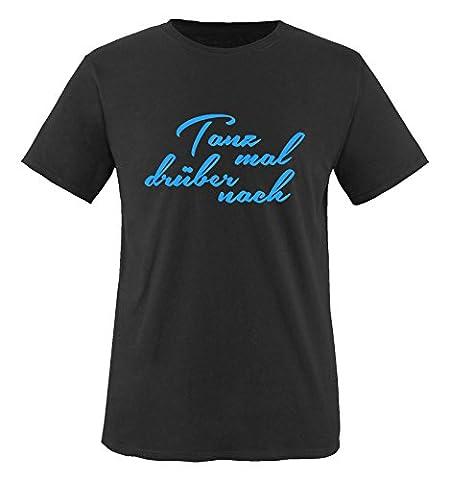 Comedy Shirts - Tanz mal drüber nach - Jungen T-Shirt - Schwarz / Blau Gr. 110-116 (Beste Tv-preise Nach Weihnachten)