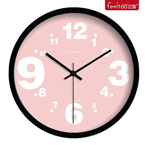 Mmynl.c creative non scorre silenziosa matt moderno orologio a parete fai da te per soggiorno camere cucine ufficio 14 pollici