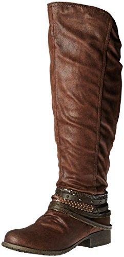 Jellypop Damen Marvel, Brown Distress Suede, 42 EU Low Harness Boot