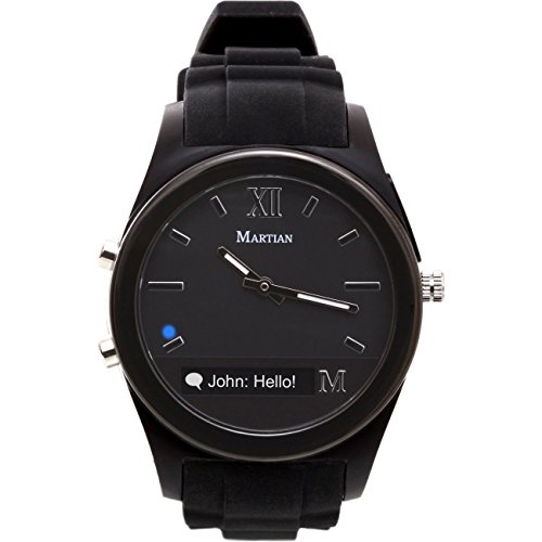 Martian Watches Notifier - relojes inteligentes (4.0, Micro-USB, Polímero de litio, 120h, 226,8g (8 oz))