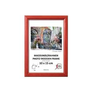 Set de 2 pièces Cadre DRW A - rouge - CARRÉ - 20x20 cm - cadre en bois, cadre photo