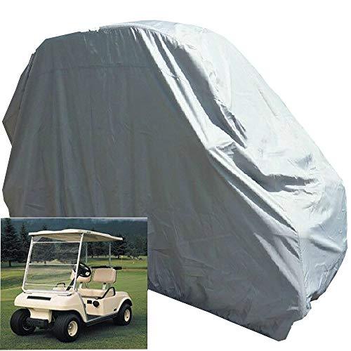 FCZBHT Möbelbezug Outdoor-Golf-Autoabdeckung, 2-sitzige / 4-sitzige Golfbekleidung, Wasserfeste Und Staubdichte Sonnenschutzabdeckung, Nylon + Kunststoffbeschichtung Silber Staubschutz