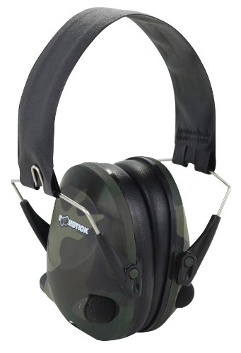 BOOMSTICK GUN ACCESSORIES ELECTRONIC FOLDING EARMUFF NOISE SAFETY HEARING PROTECTION  CAMOUFLAGE